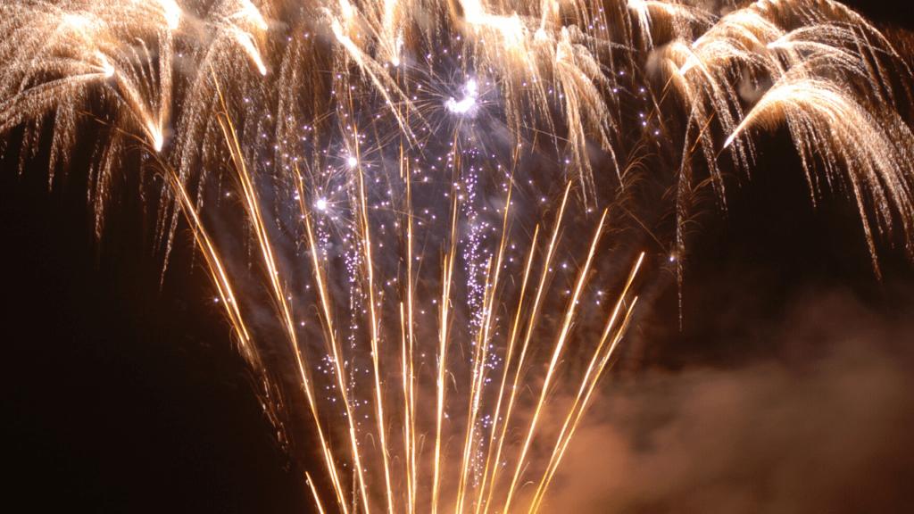 how do fountain fireworks work_