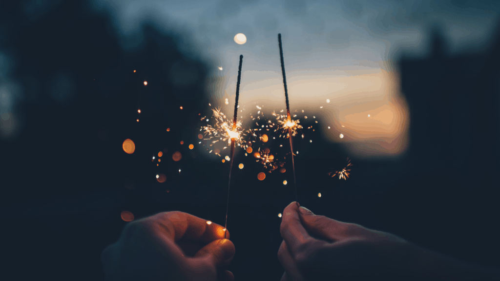 sparklers for bonfire night